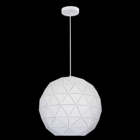 Large Laser Cut Metal Ball Pendant