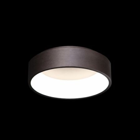 BRUSHED COFFEE CONCAVE LED CEILING FITTING