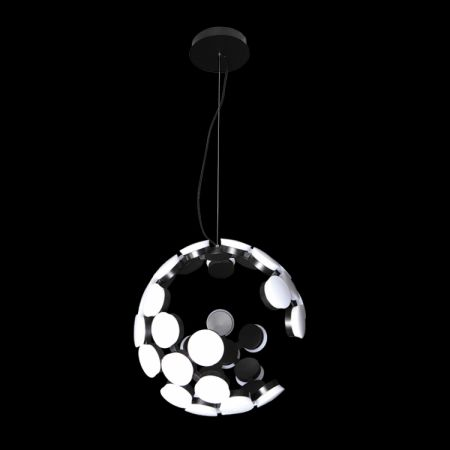 LED 75W METEOR BLACK PENDANT, WW