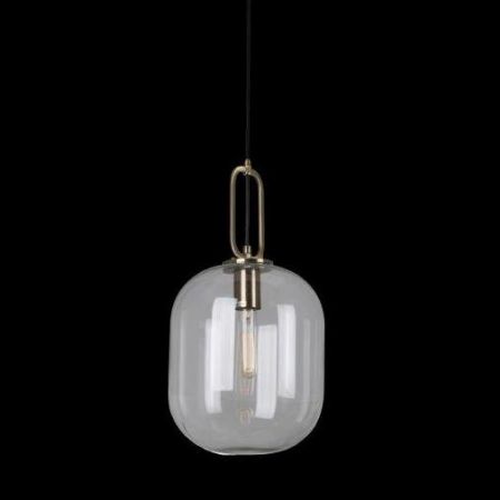 HALLSTAT PENDANT BRONZE WITH CLEAR GLASS 350MM