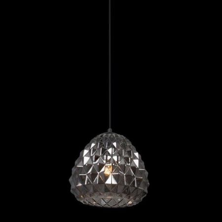 COLMAR PENDANT BLACK WITH SMOKE BLACK GLASS