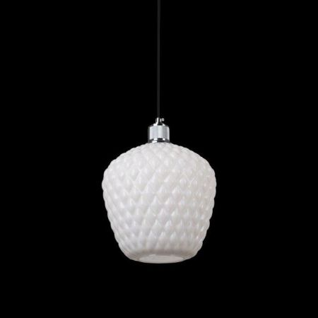 OSLO PENDANT WHITE GLASS 250MM